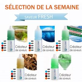 Sélection de la semaine 5 e-liquides SAVEUR FRESH