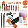 Pack EVOD TWIST 900mAh + 3 clearomizers au choix + 12 e-liquide toutes saveurs