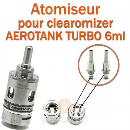Pack de 5 têtes d'atomiseur pour clearomizer AEROTANK GIANT 4.5ml