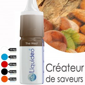 "E-liquide saveur TABAC ""The West"" de Liquideo - 10ml pour e-cigarette"