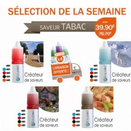 Sélection Tabac de 12 e-liquides dont 4 gratuits