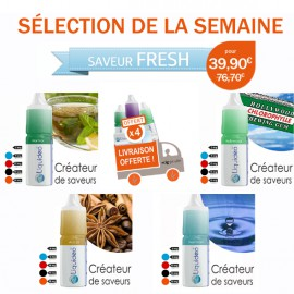 Sélection Fresh de 12 e-liquides dont 4 gratuits