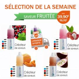 Sélection Fruité de 12 e-liquides dont 4 gratuits
