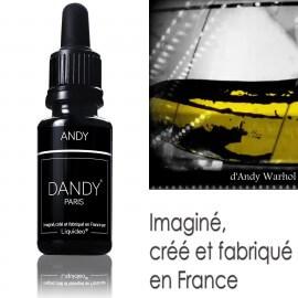 "E-liquide DANDY saveur ""Andy"" de Liquideo - 15ml pour e-cigarette"
