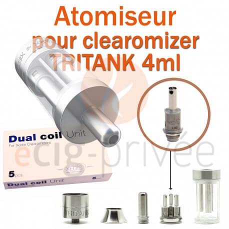 Pack de 5 résistances pour clearomizer TRITANK 4ml