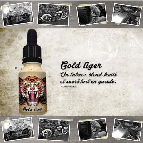 "E-liquide XBUD saveur ""GOLD TIGER"" de Liquideo - 15ml pour e-cigarette"