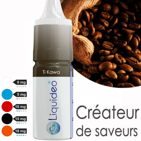 "E-liquide saveur ""Ti Kawa"" de Liquideo - 10ml"