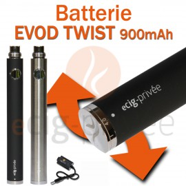 Batterie 900mAh EVOD TWIST pour e-cigarette