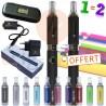 Kit double e-cigarette EVOD 650mAh - 1 achetée égale 1 offerte