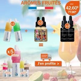 Pack 11 e-liquides saveurs Fuitées, 6 achetés égale 5 gratuits