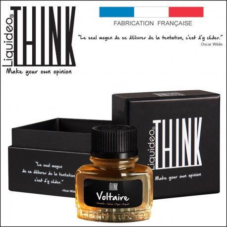 "E-liquide THINK saveur ""VOLTAIRE"" de Liquideo - 30ml pour e-cigarette"
