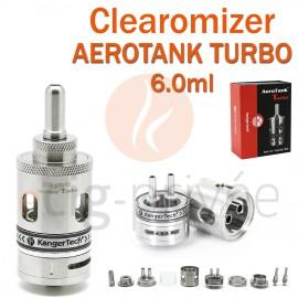 Clearomizer AEROTANK TURBO couleur argent de 6ml pour e-cigarette