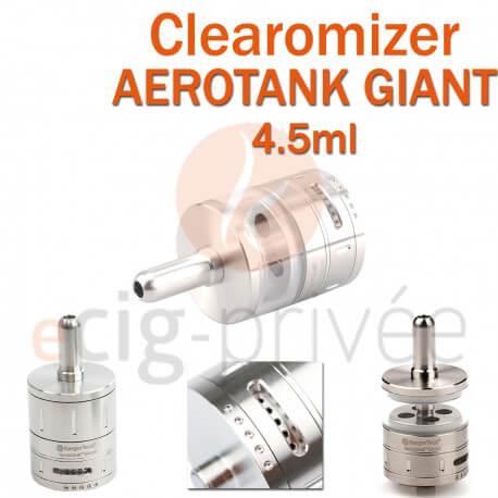 Clearomizer AEROTANK GIANT couleur argent de 4.5ml pour e-cigarette