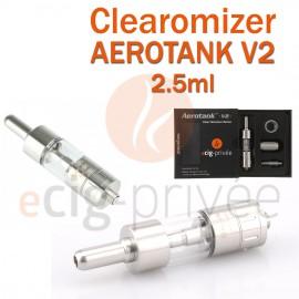 Clearomizer AEROTANK V2 couleur argent de 2.5ml pour e-cigarette