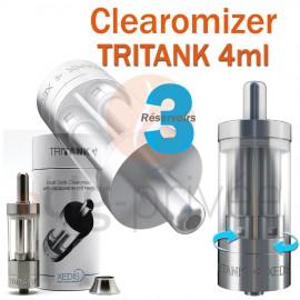 Clearomizer TRITANK couleur argent de 4ml pour e-cigarette