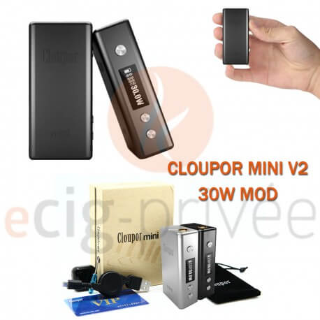 MINI BOX - CLOUPOR MINI V2 30W MOD pour e-cigarette