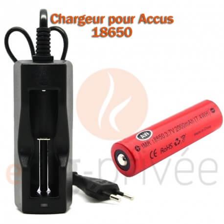 Chargeur accus 18650 et 18350
