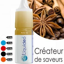 """E-liquide saveur """"Anis 52"""" de Liquideo - 10ml"""