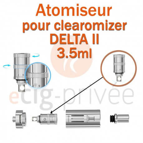 Pack de 5 résistances LVC pour clearomizer DETA 2 3.5ml