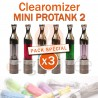 Pack de 3 Clearomizers MINI PROTANK 2 pour e-cigarette