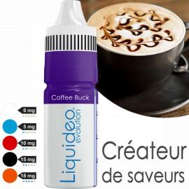 """E-liquide saveur GOURMANDE """"COFFEE BUCK"""" de Liquideo - 10ml pour e-cigarette"""