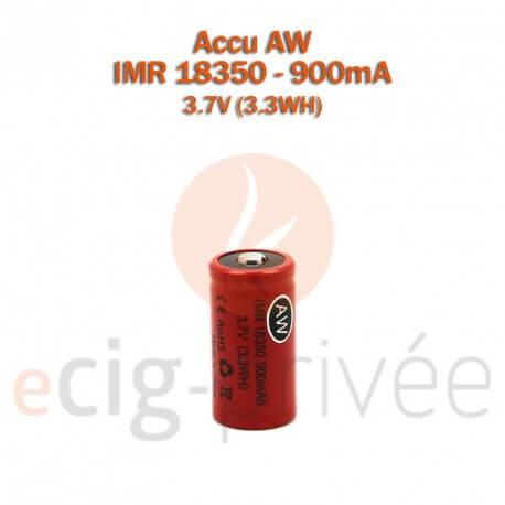 Accus AW 18350 - 900mAh pour MODS