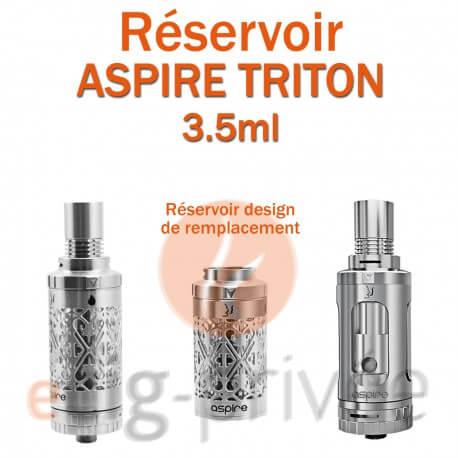 Réservoir en acier inox Pyrex pour clearomizer ASPIRE TRITON 3.5ml