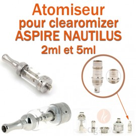 Pack de 5 résistances pour clearomizer MINI ASPIRE NAUTILUX 2ml