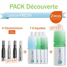 Pack découverte 2 mois saveur Fresh + 4 clearomizers gratuits