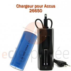 Chargeur accus 26650