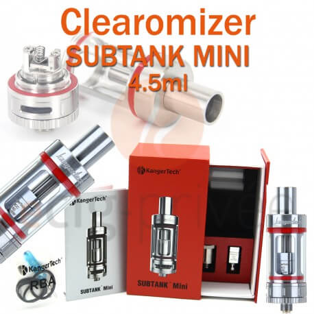Clearomizer SUBTANK MINI 4.5ml de KANGERTECH pour e-cigarette