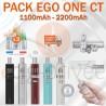 PACK PROMO EGO ONE CT 1100mAh et 2200mAh
