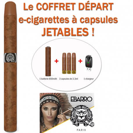 KIT E-CIGARETTES JETABLES KTUBEO DE LIQUIDEO