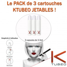 "PACK DE 3 RECHARGES JETABLES SAVEUR ""THE WEST"" POUR E-CIGARETTE AUTOMATIQUE"