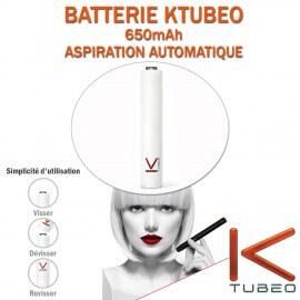 BATTERIE BLANCHE KTUBEO 650mAh POUR E-CIG A CAPSULES JETABLES
