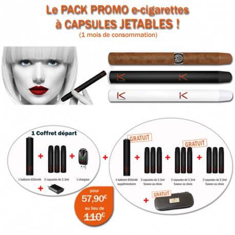 KIT E-CIGARETTES JETABLES KTUBEO DE LIQUIDEO