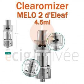 Clearomizer MELO 2 d'ELEAF de capacité 4.5ml pour e-cigarette