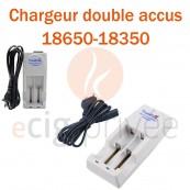Chargeur double accus TRUSTFIRE 18650 et 18350