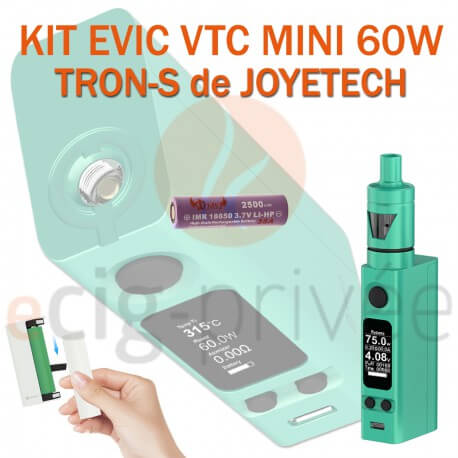 PACK PROMO MINI BOX - KIT EVIC VTC MINI 60W ET TRON-S