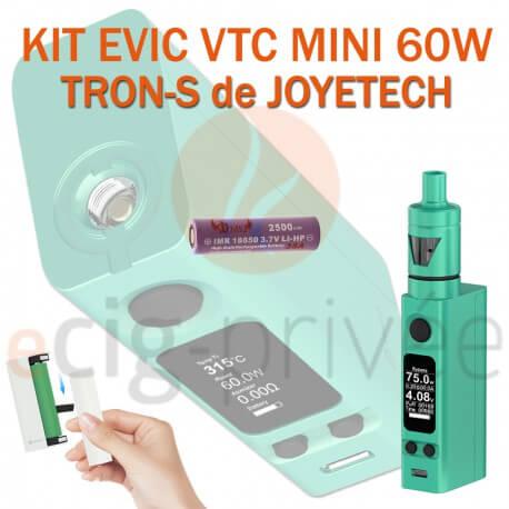 PACK PROMO MINI BOX - KIT EVIC VTC MINI 60W ET TRON-S
