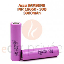 Accus SAMSUNG 18650-3000mAh pour BOX/MODS