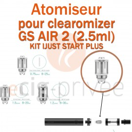 Pack de 5 résistances pour clearomizer GS AIR 2 du KIT IJUST START PLUS
