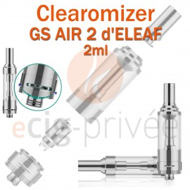 Clearomizer GS AIR 2 2ml d'ELEAF pour e-cigarette