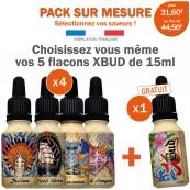 Pack de 3 e-liquides XBUD sur mesure
