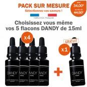 Pack 6 e-liquides DANDY saveur Mixte