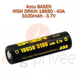 Accus BASEN 18650-40A-3100mAh pour BOX/MODS