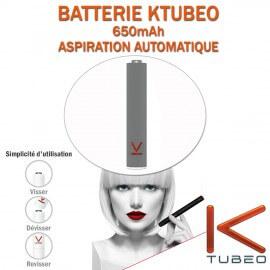 BATTERIE GRISE KTUBEO 650mAh POUR E-CIG A CAPSULES JETABLES