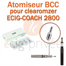 Pack de 5 résistances BCC clearomizer ECIG-COACH 2800mAh