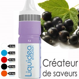 """""""K6-Cassis-"""" E-liquide saveur FRUITÉE de Liquideo-10ml pour e-cigarette"""