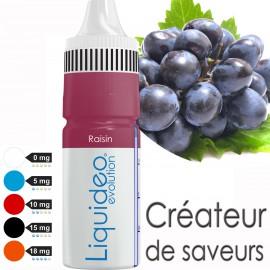 """E-liquide saveur FRUITÉE """"Raisin"""" de Liquideo - 10ml pour e-cigarette"""